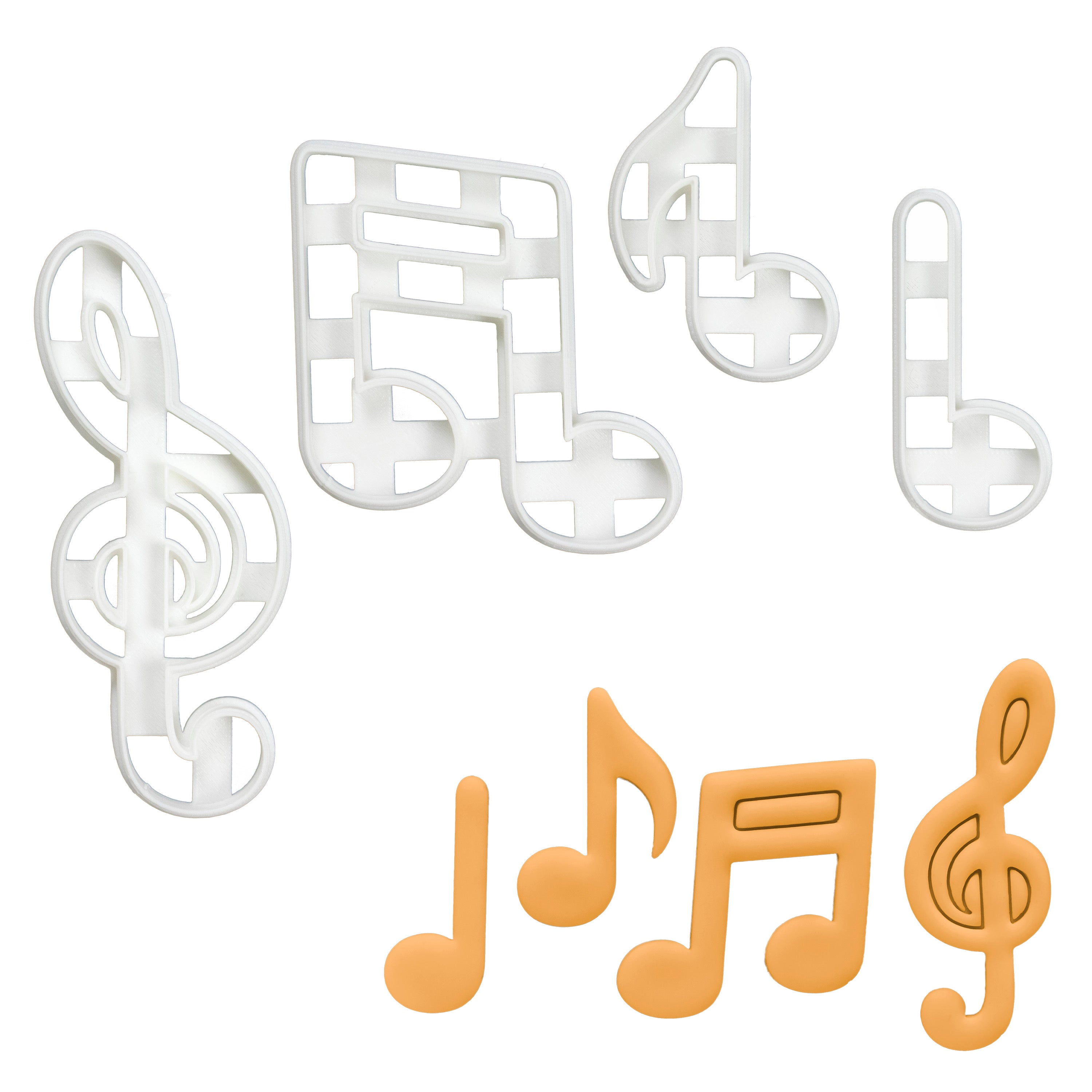 Set of 4 Musical Notes Cookie Cutters
