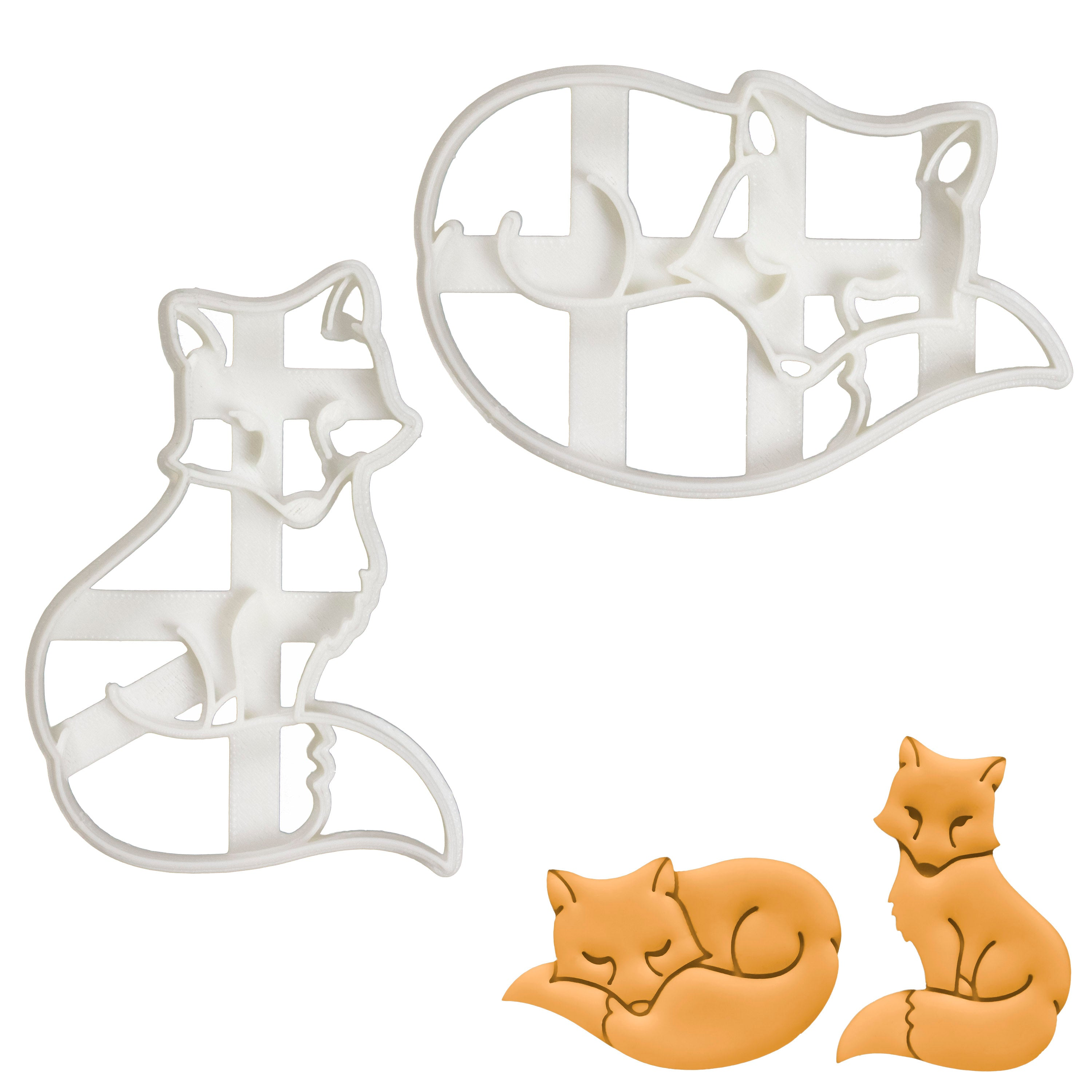 Set of 2 Fox Cookie Cutters