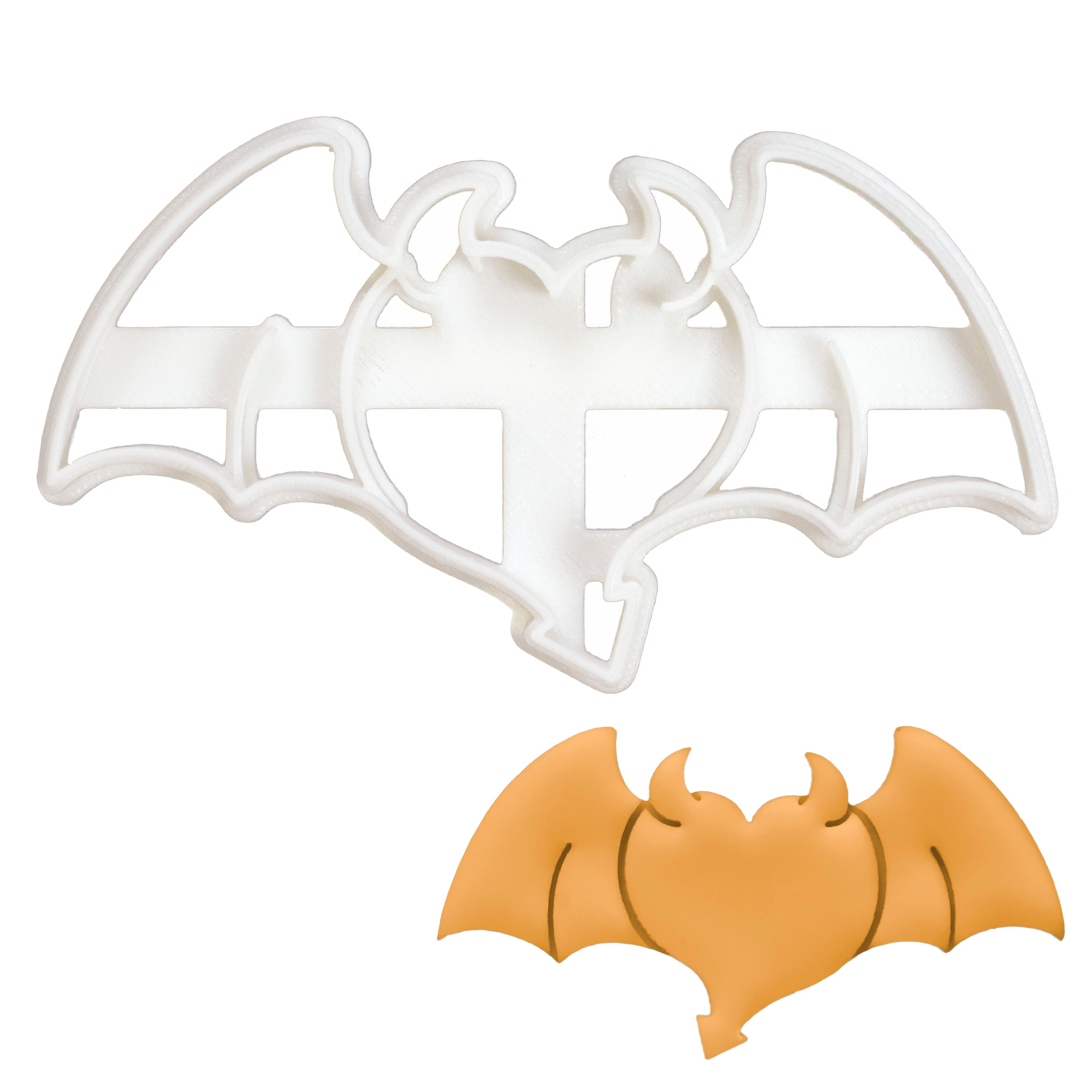 Heart with Devil Wings Cookie Cutter