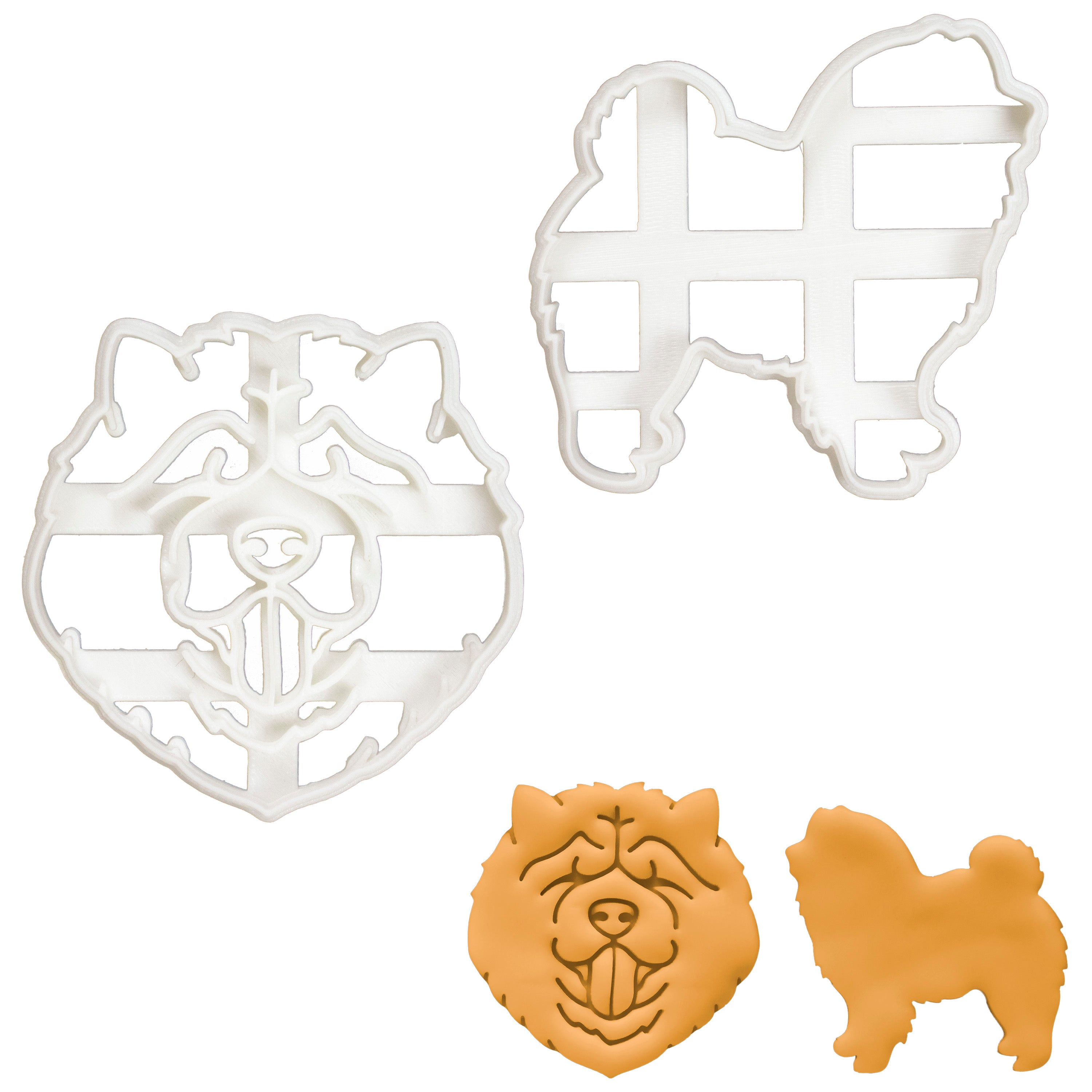 set of 2 chow chow cookie cutters
