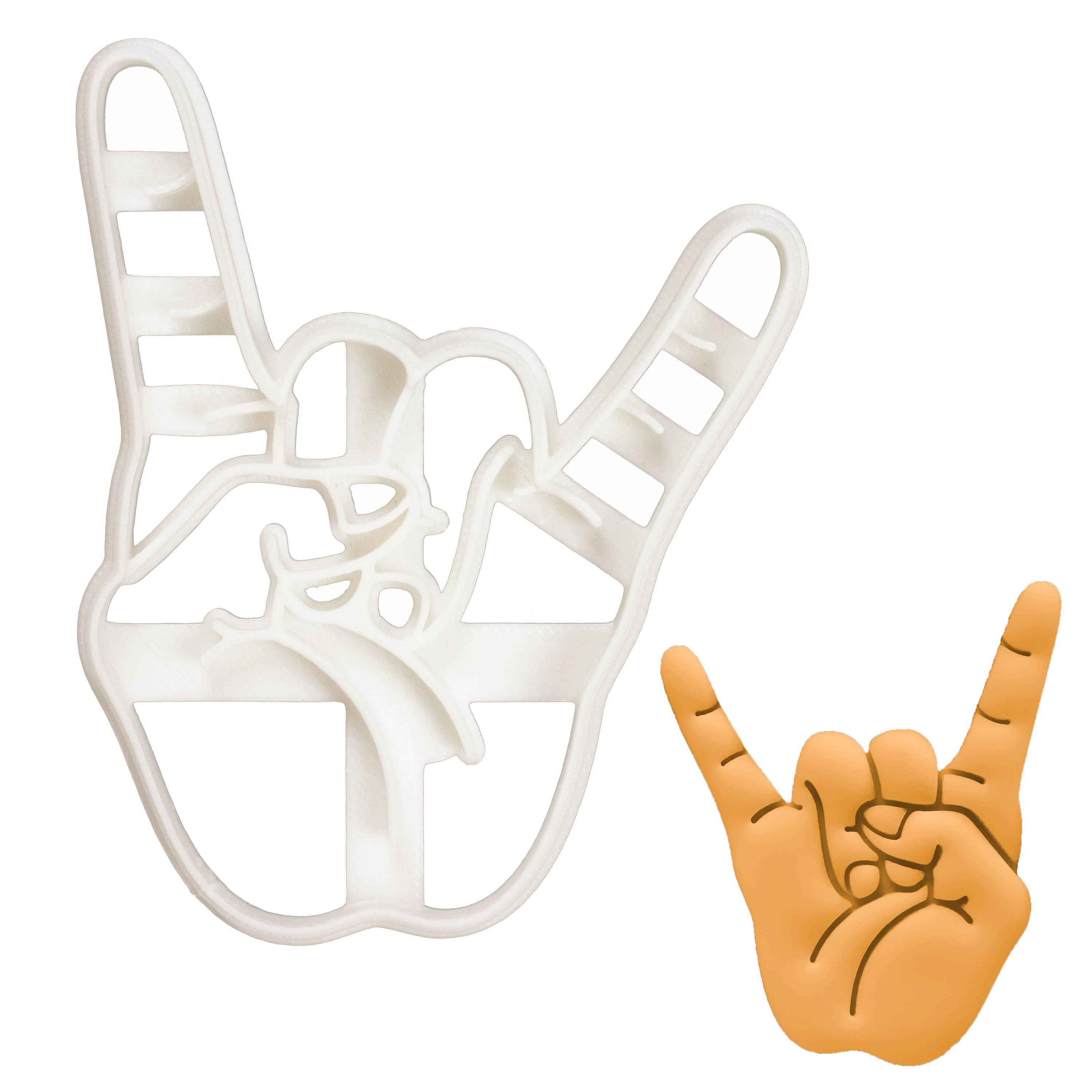 Rock Hand Sign of the Horns Cookie Cutter