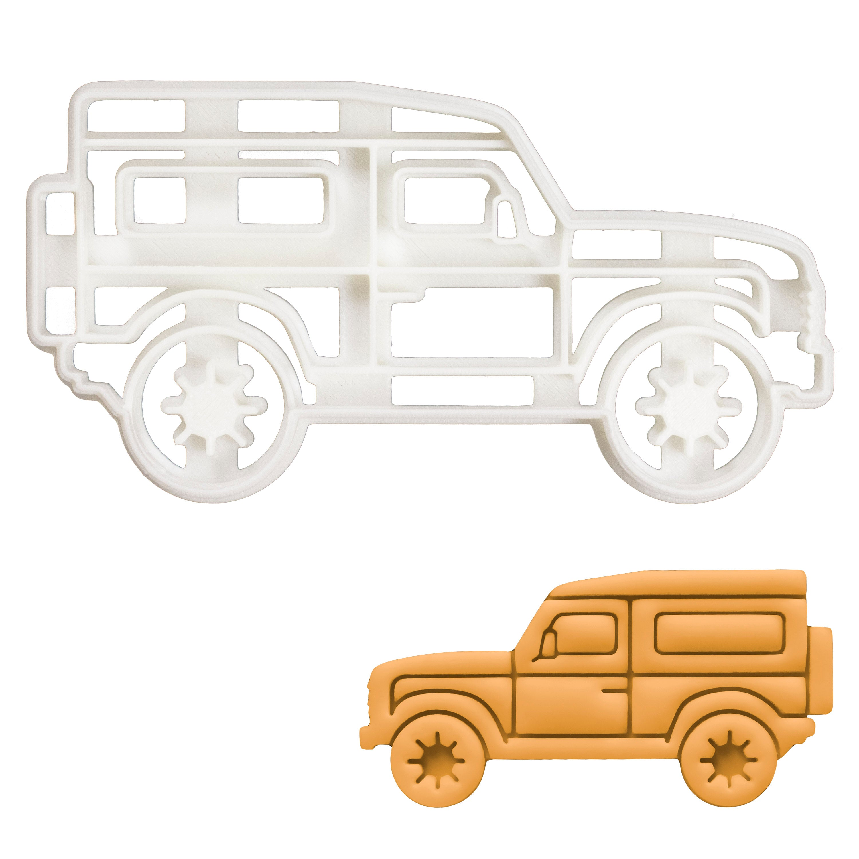 Camping SUV cookie cutter