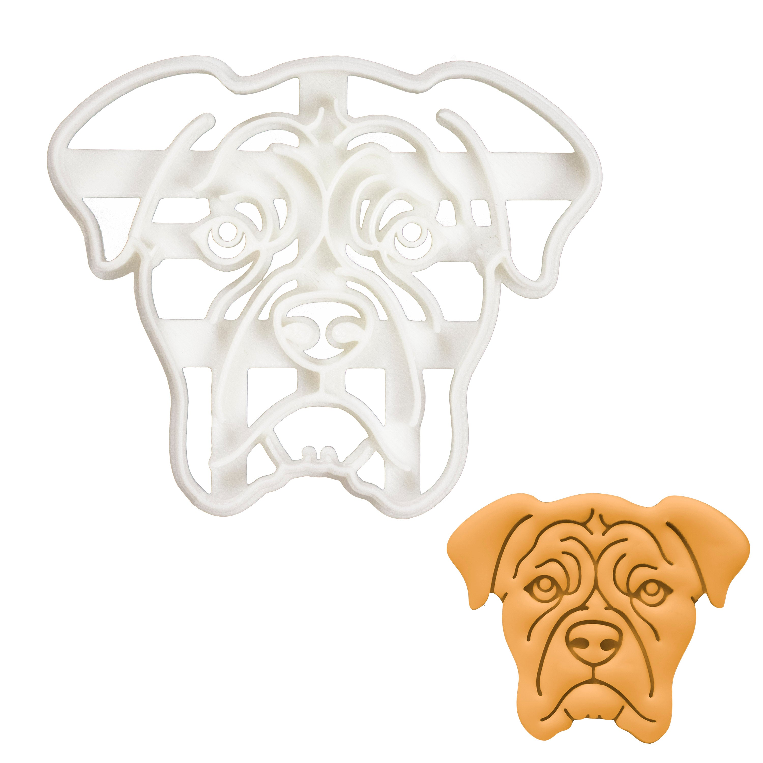 Boxer Face cookie cutter