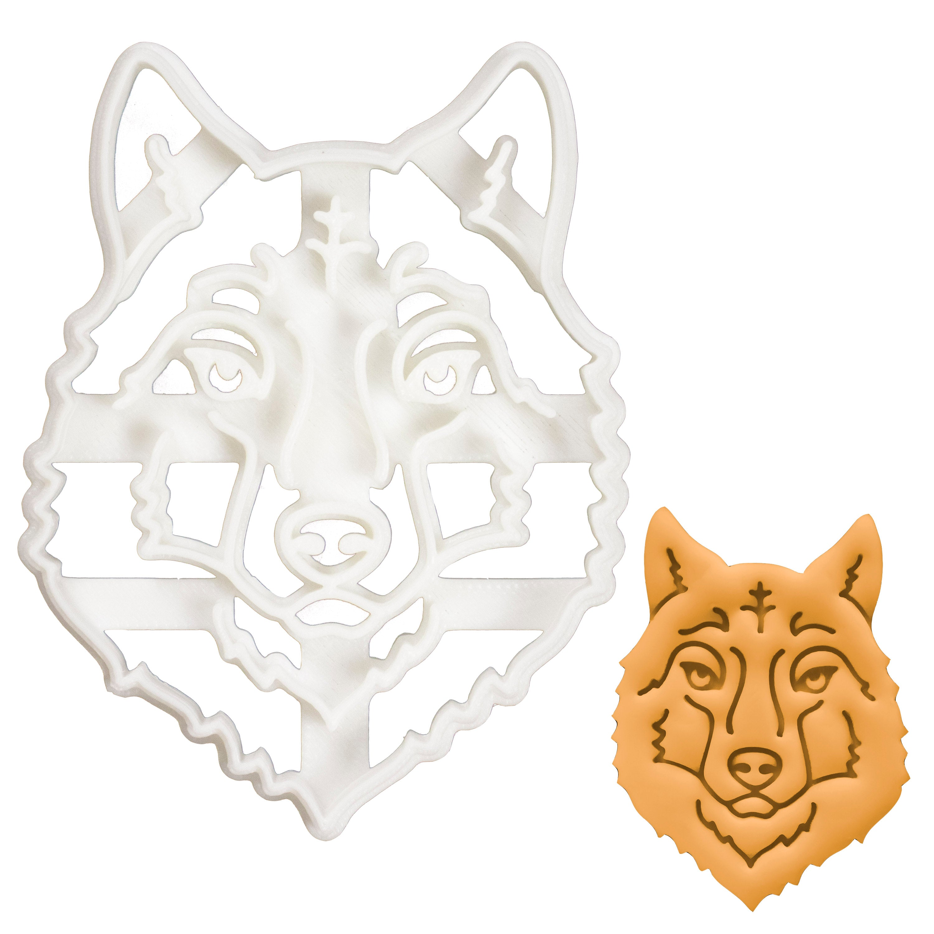 Wolf Face cookie cutter