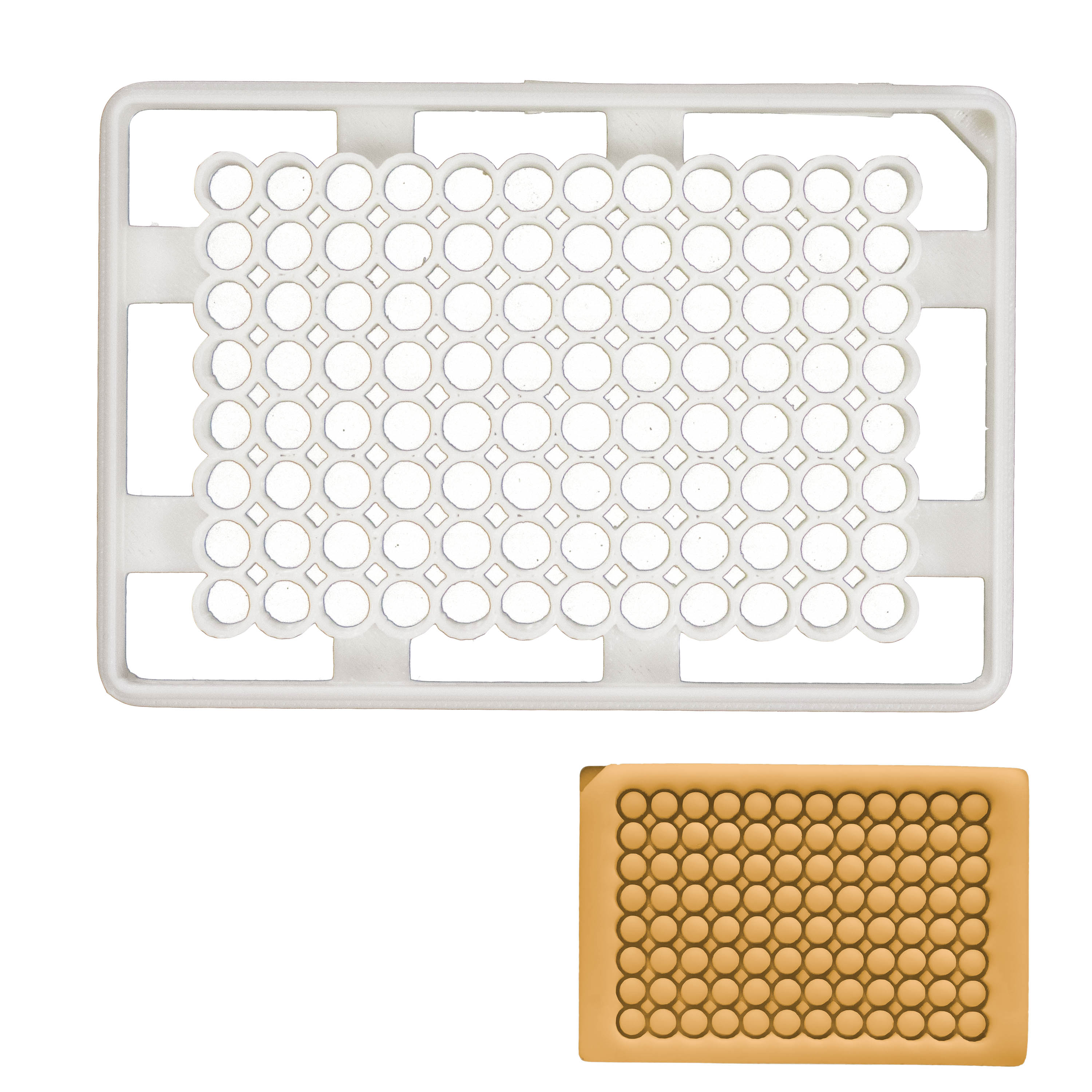 Laboratory 96 well plate cookie cutter