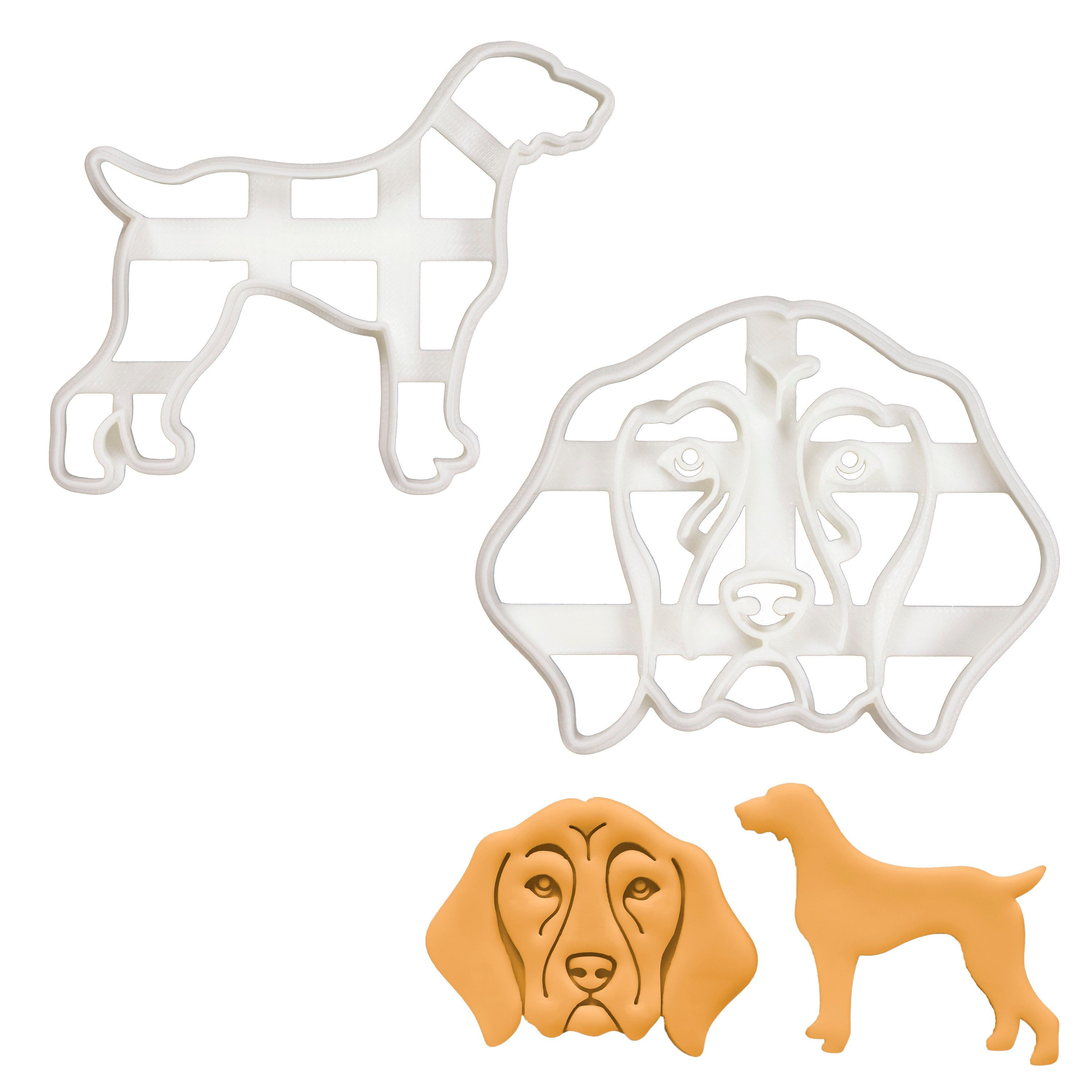 Set of 2 German Shorthaired Pointer cookie cutters