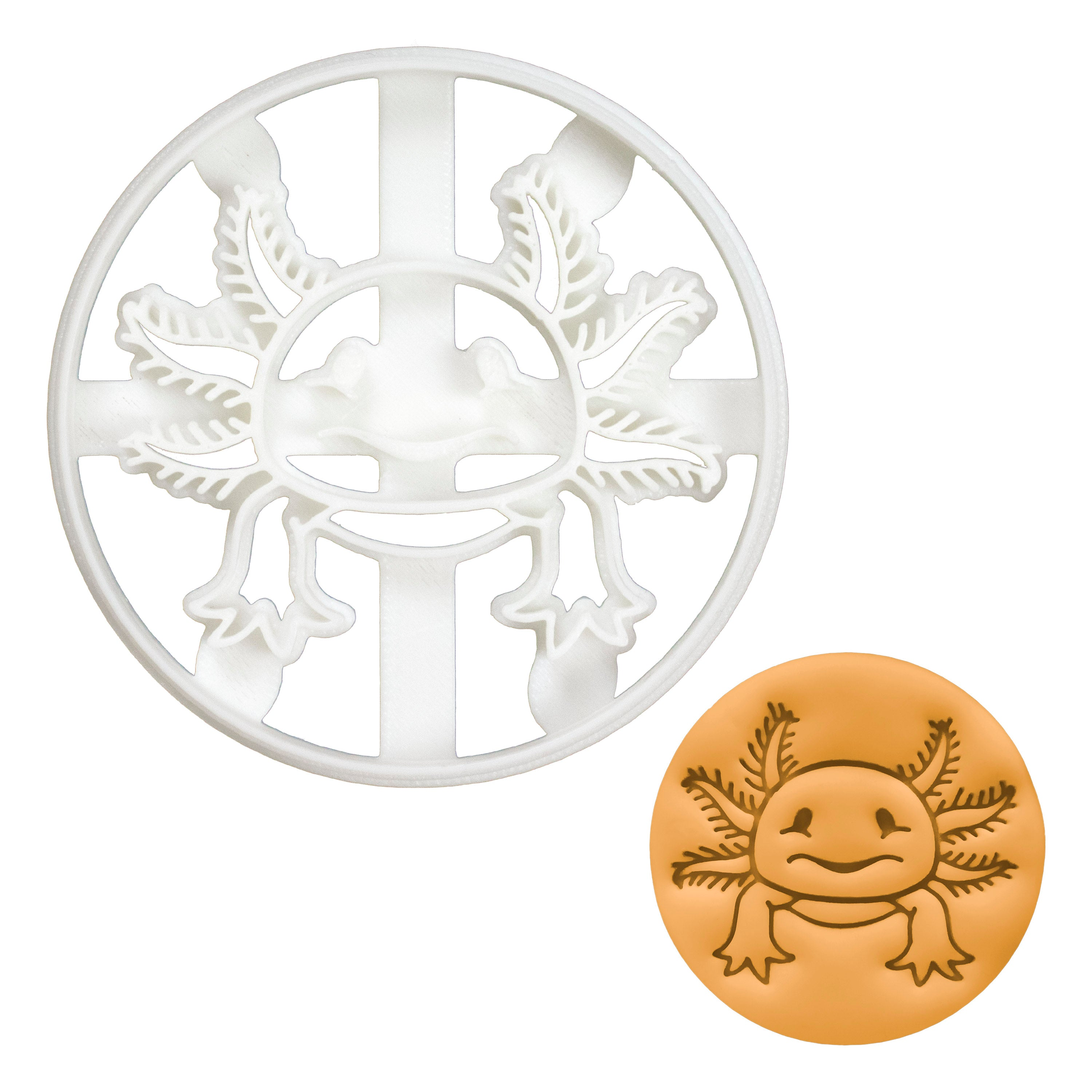 Realistic Axolotl cookie cutter