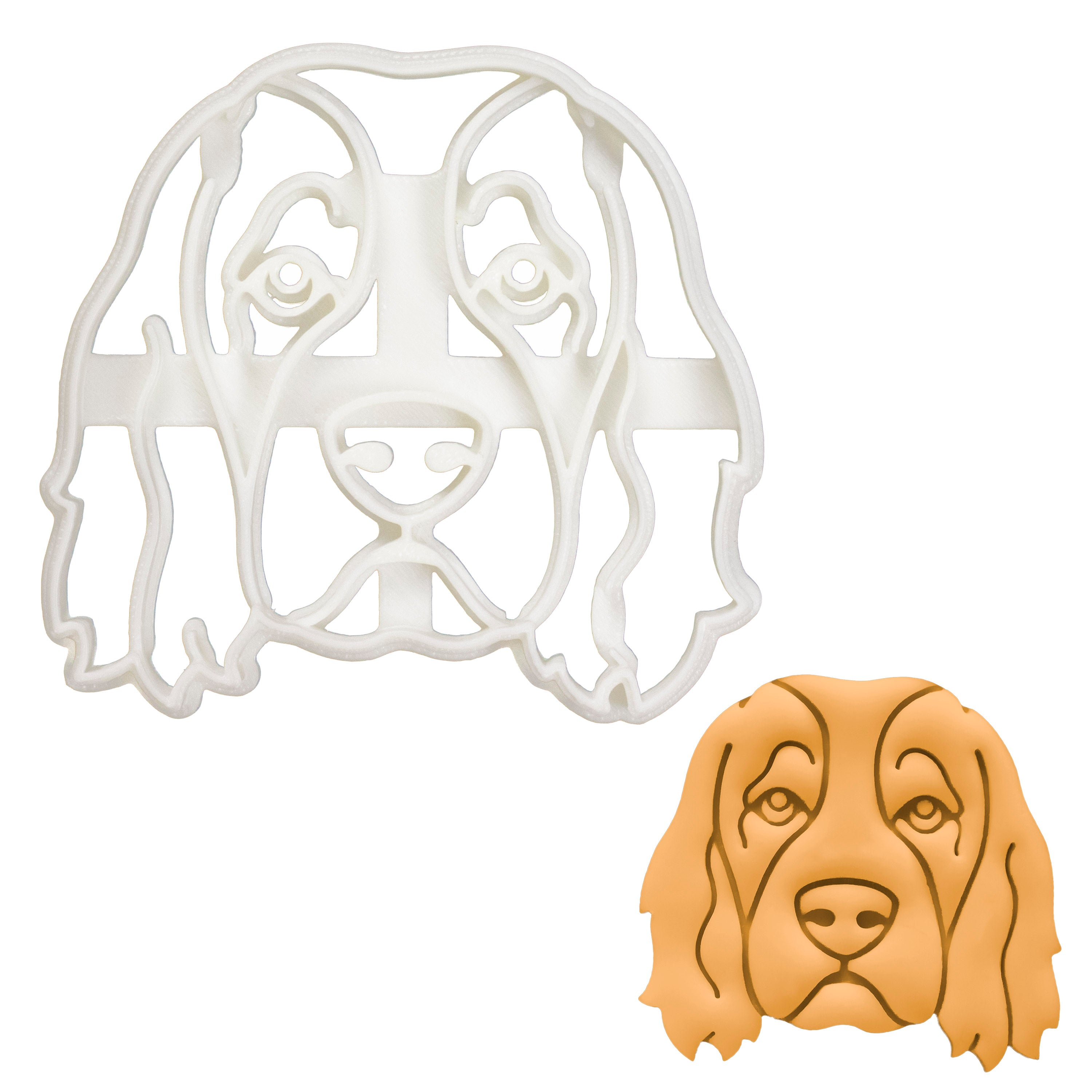 Irish Red and White Setter Face cookie cutter