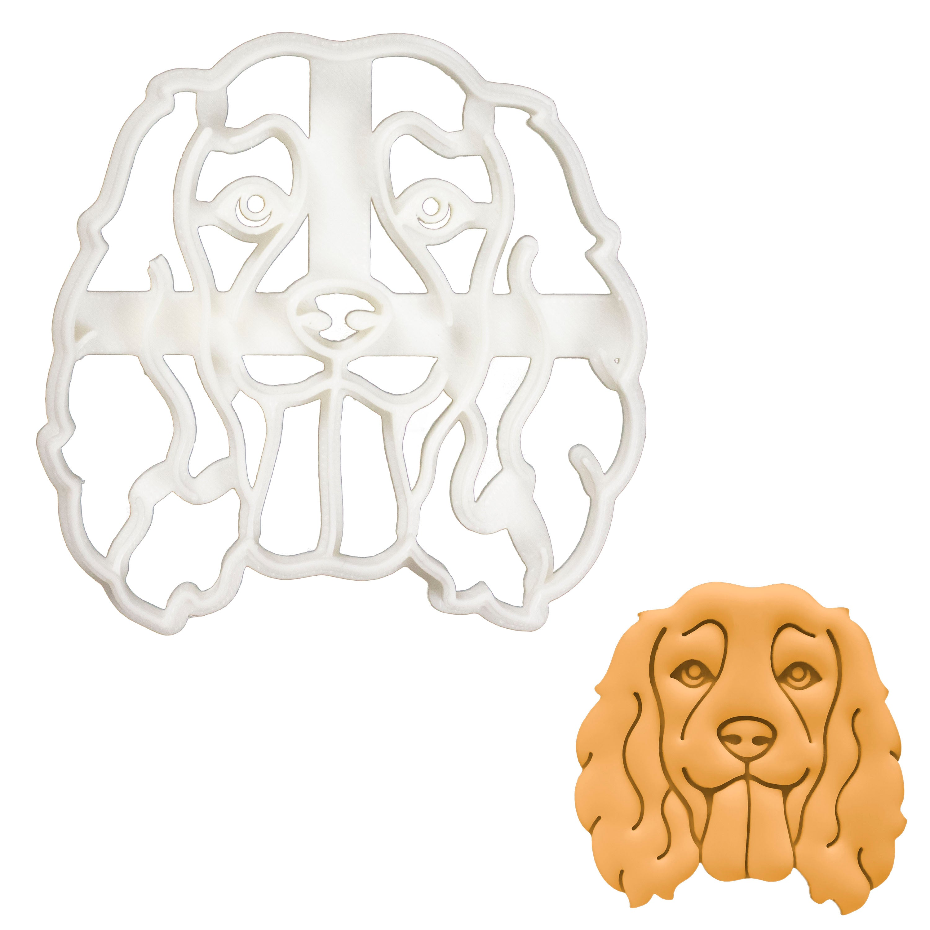 Working Cocker Spaniel Face cookie cutter