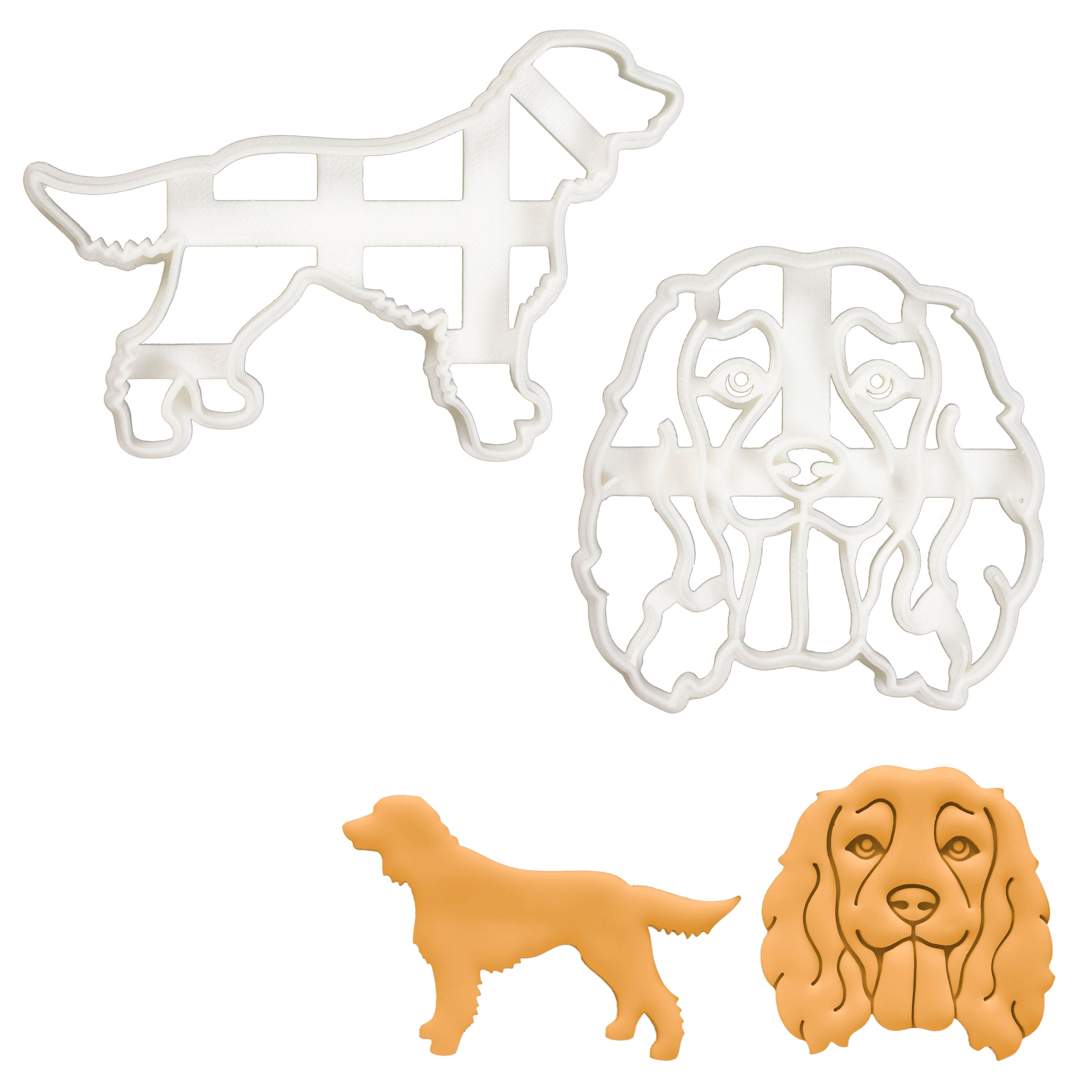 Set of 2 Working Cocker Spaniel cookie cutters