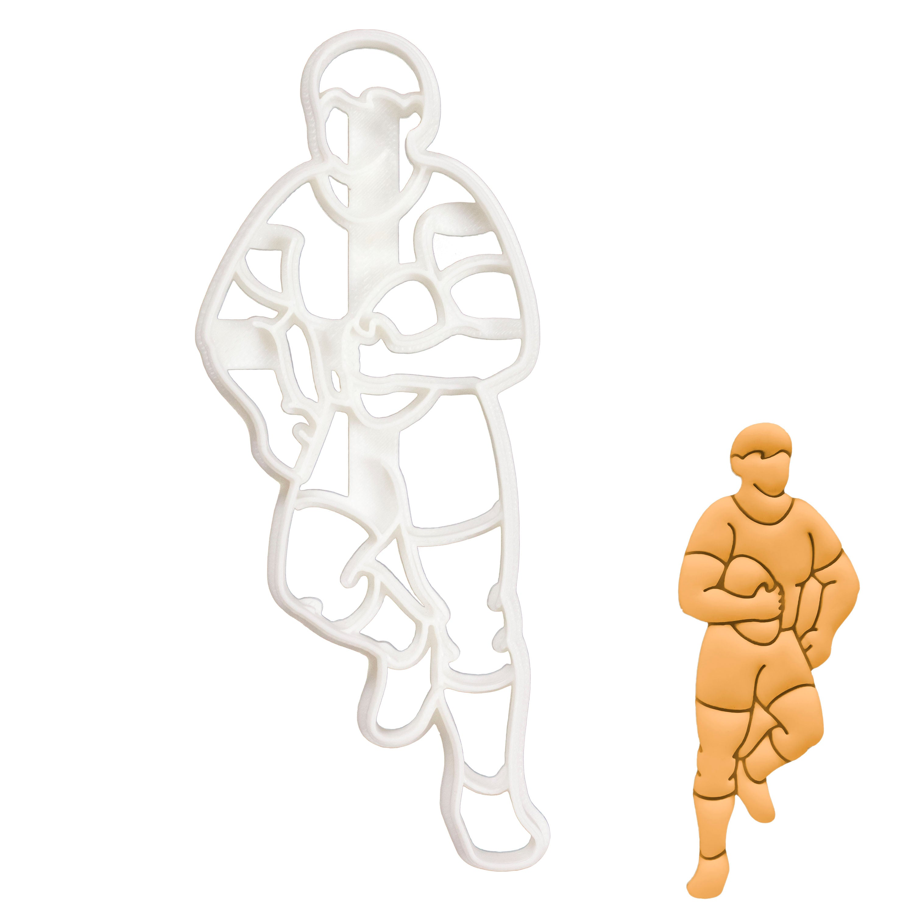 Rugby Player cookie cutter