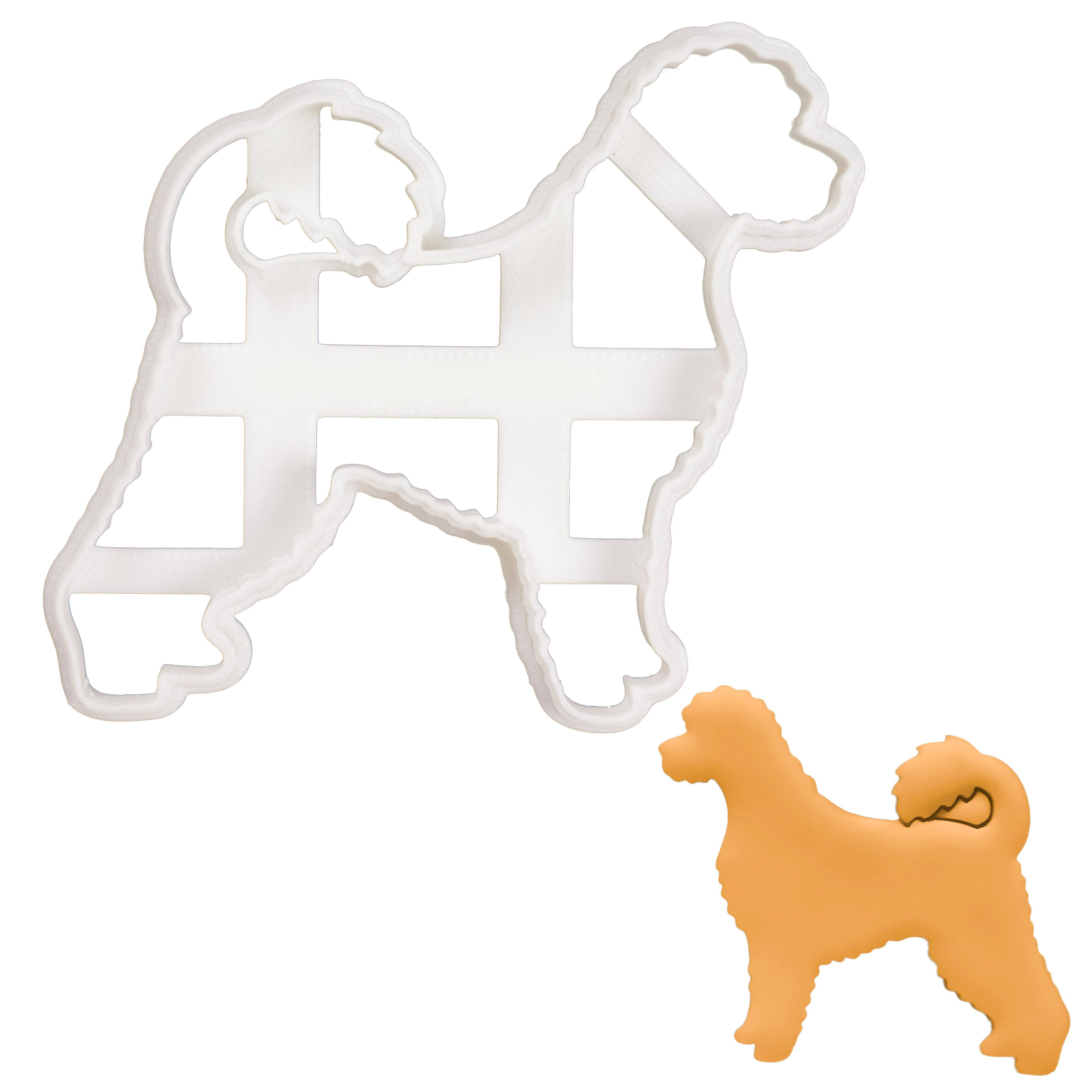Portuguese Water Dog Body cookie cutter