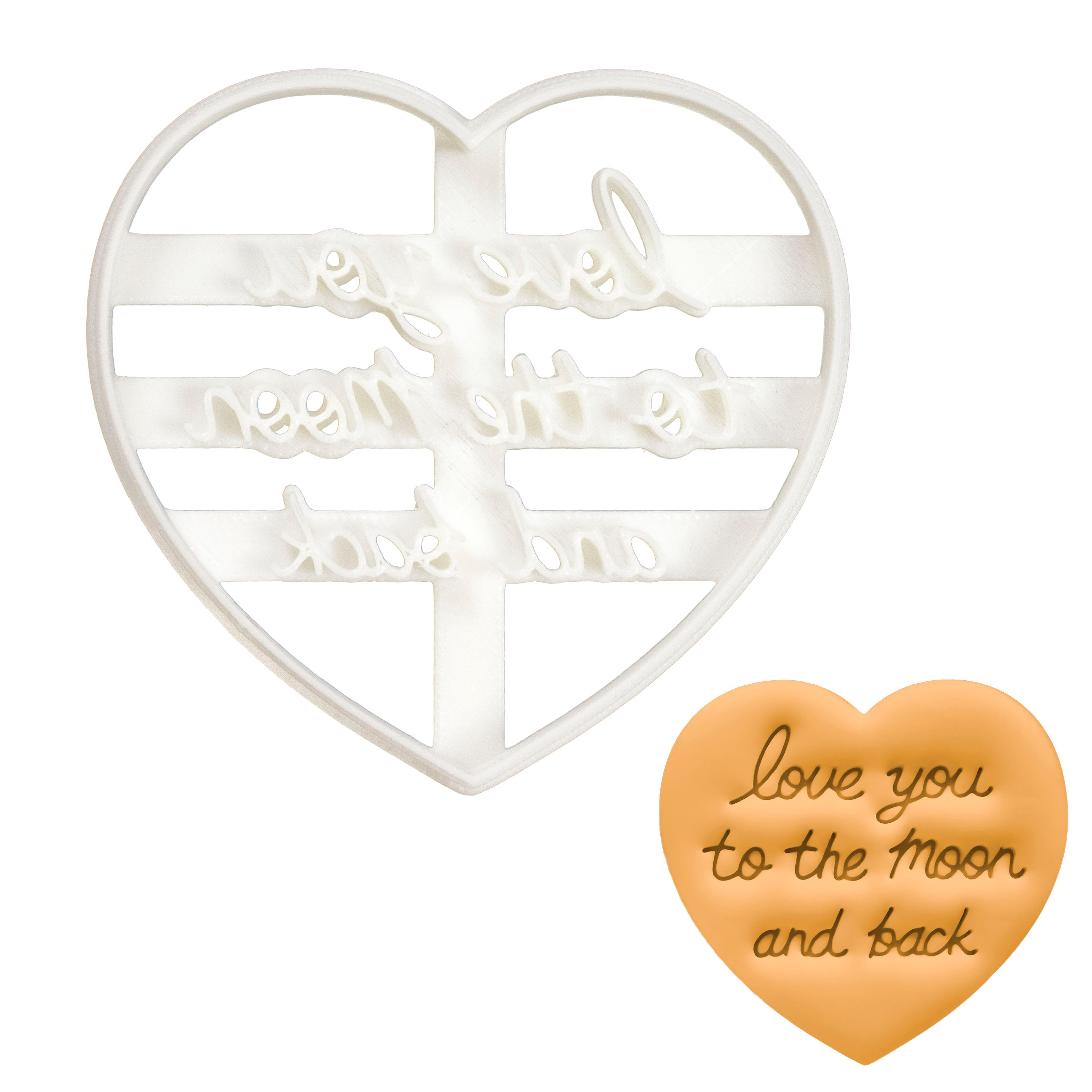 Love You to the Moon and Back in Cursive cookie cutter