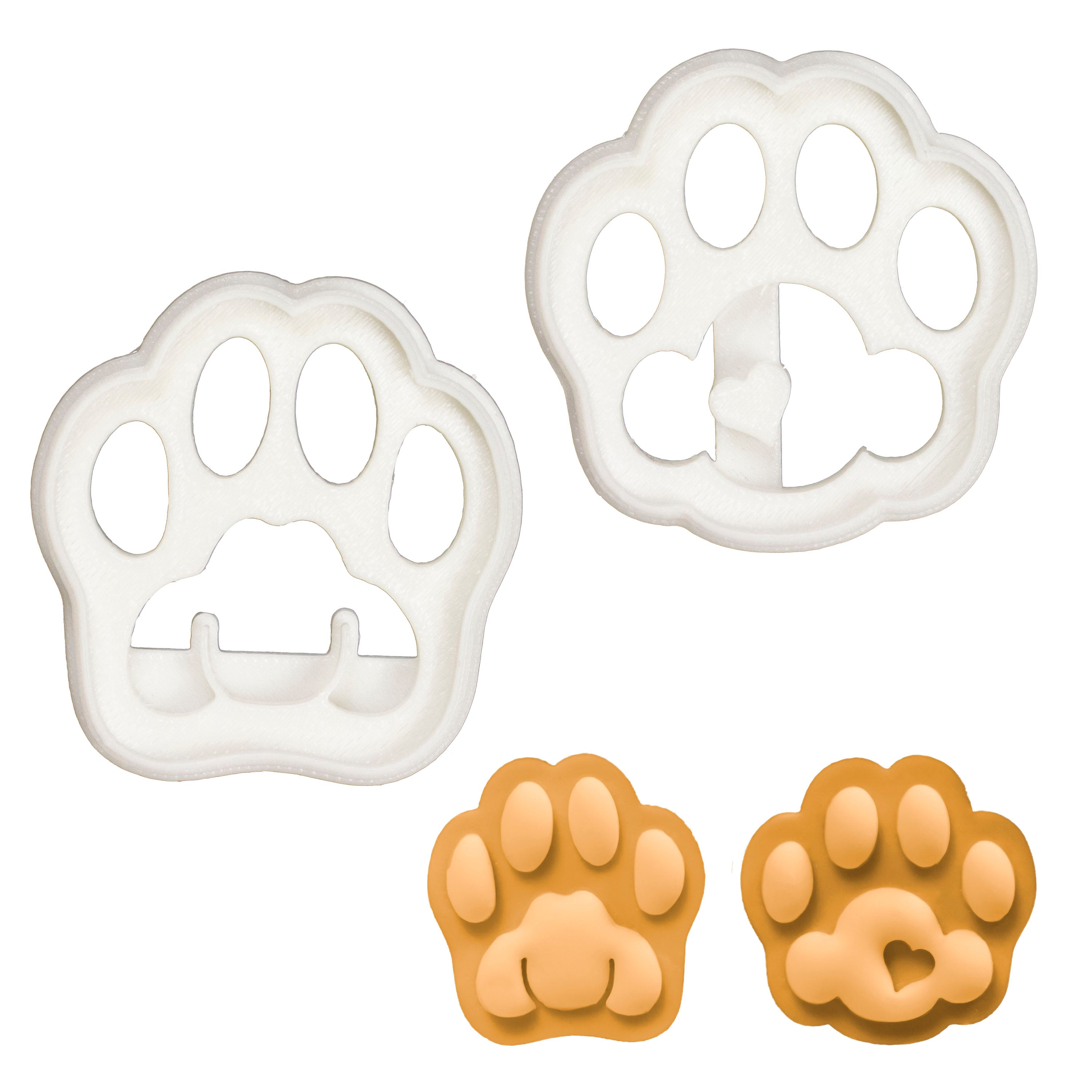 Set of 2 Kitty Paw cookie cutters