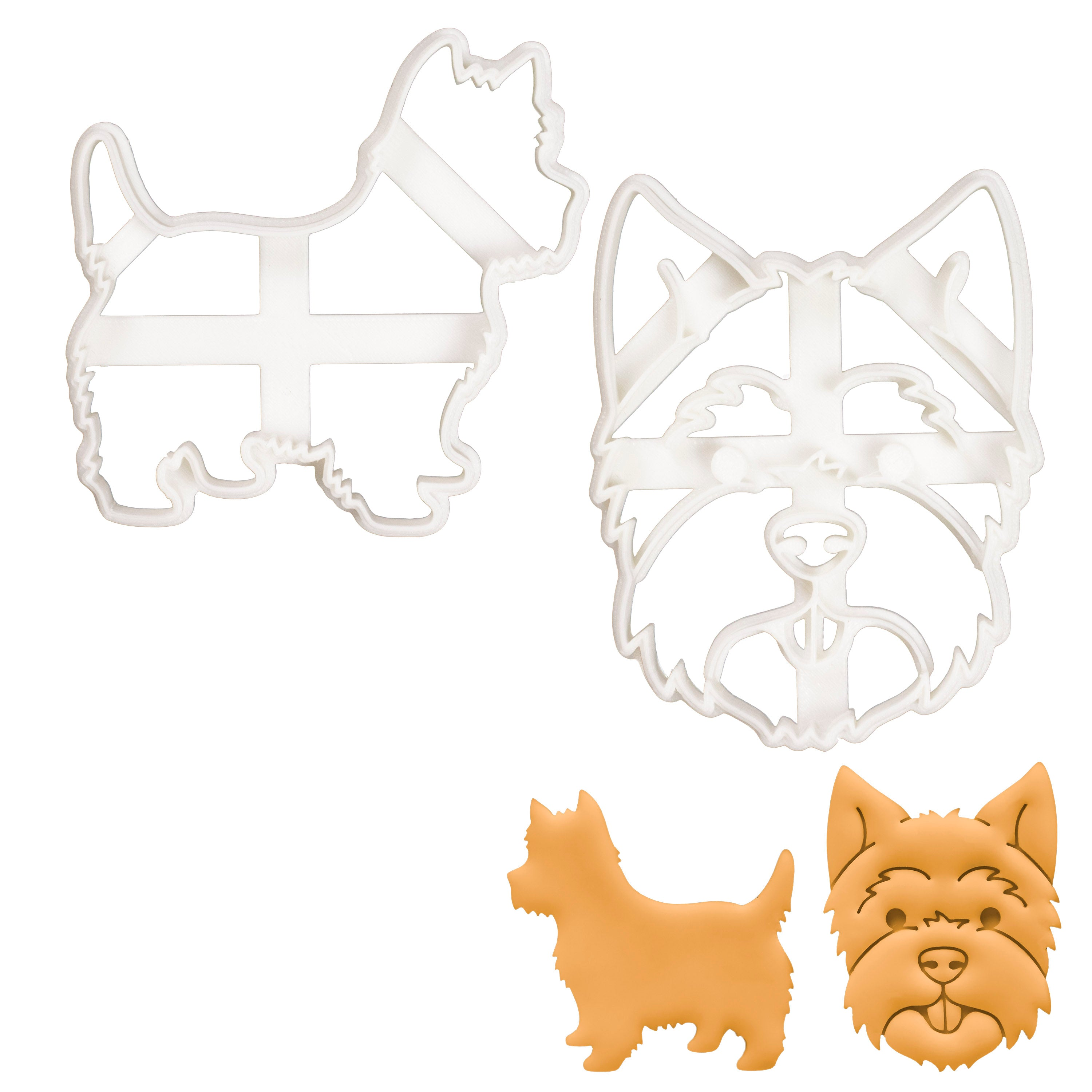 Set of 2 West Highland White Terrier cookie cutters
