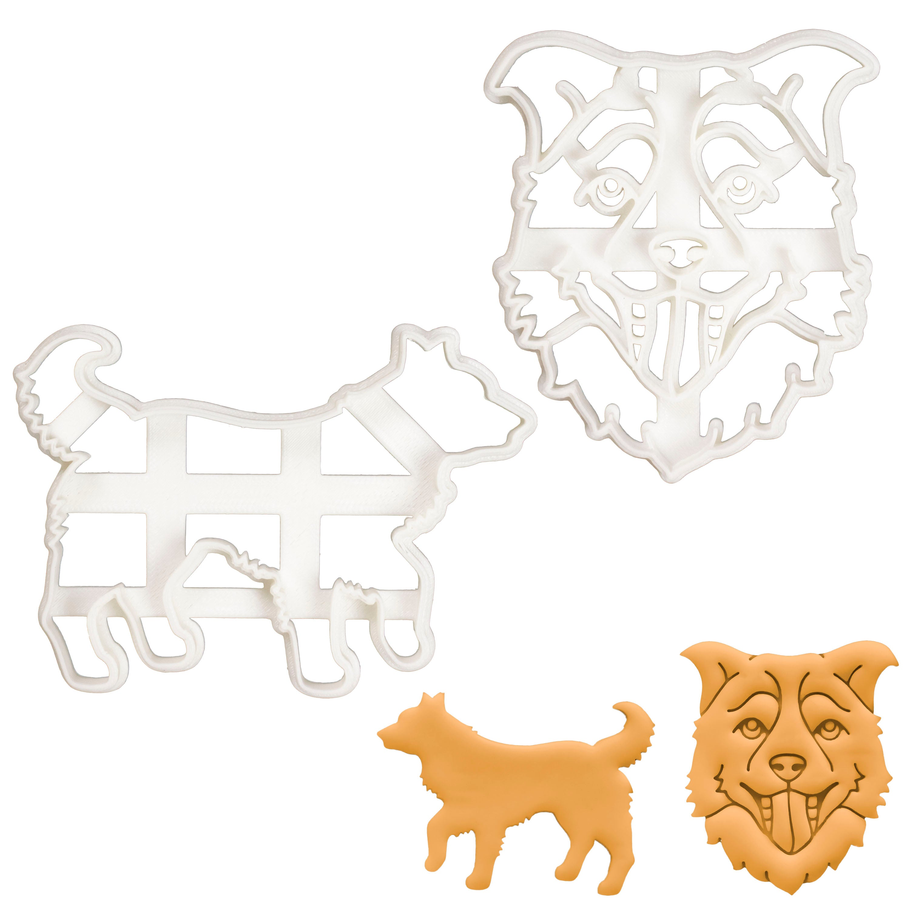 Set of 2 Border Collie cookie cutters
