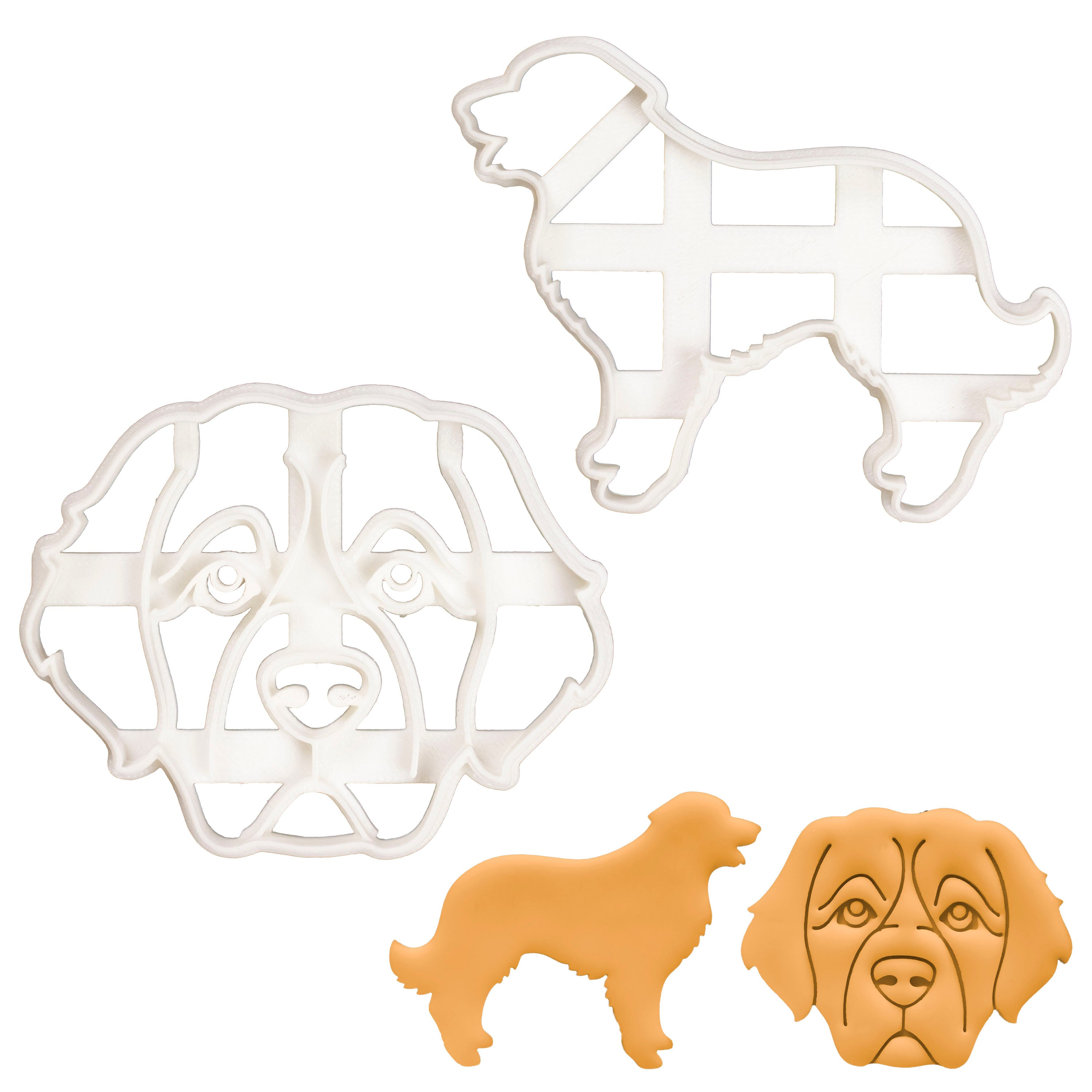 Set of 2 Leonberger cookie cutters
