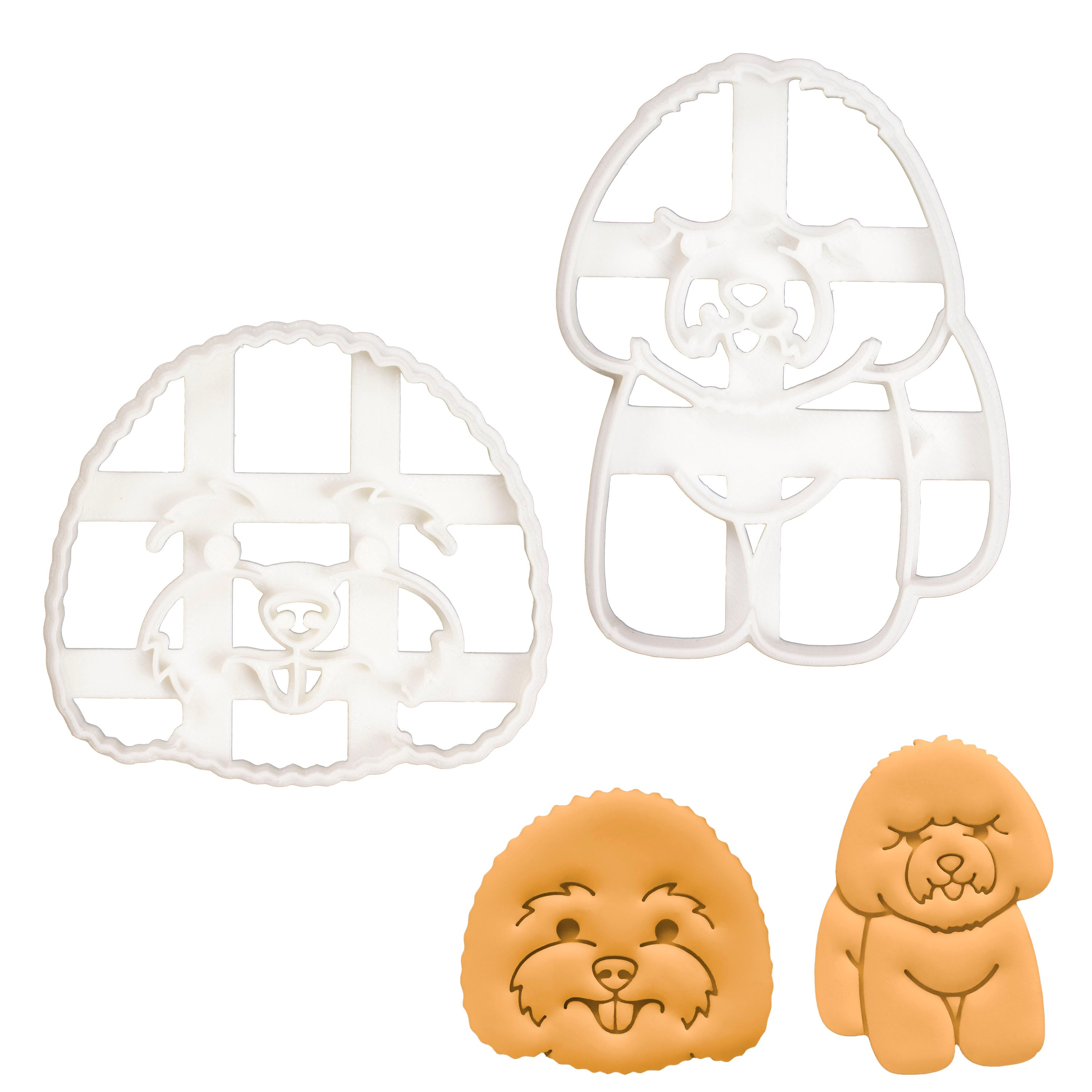 Set of 2 Bichon Frise cookie cutters