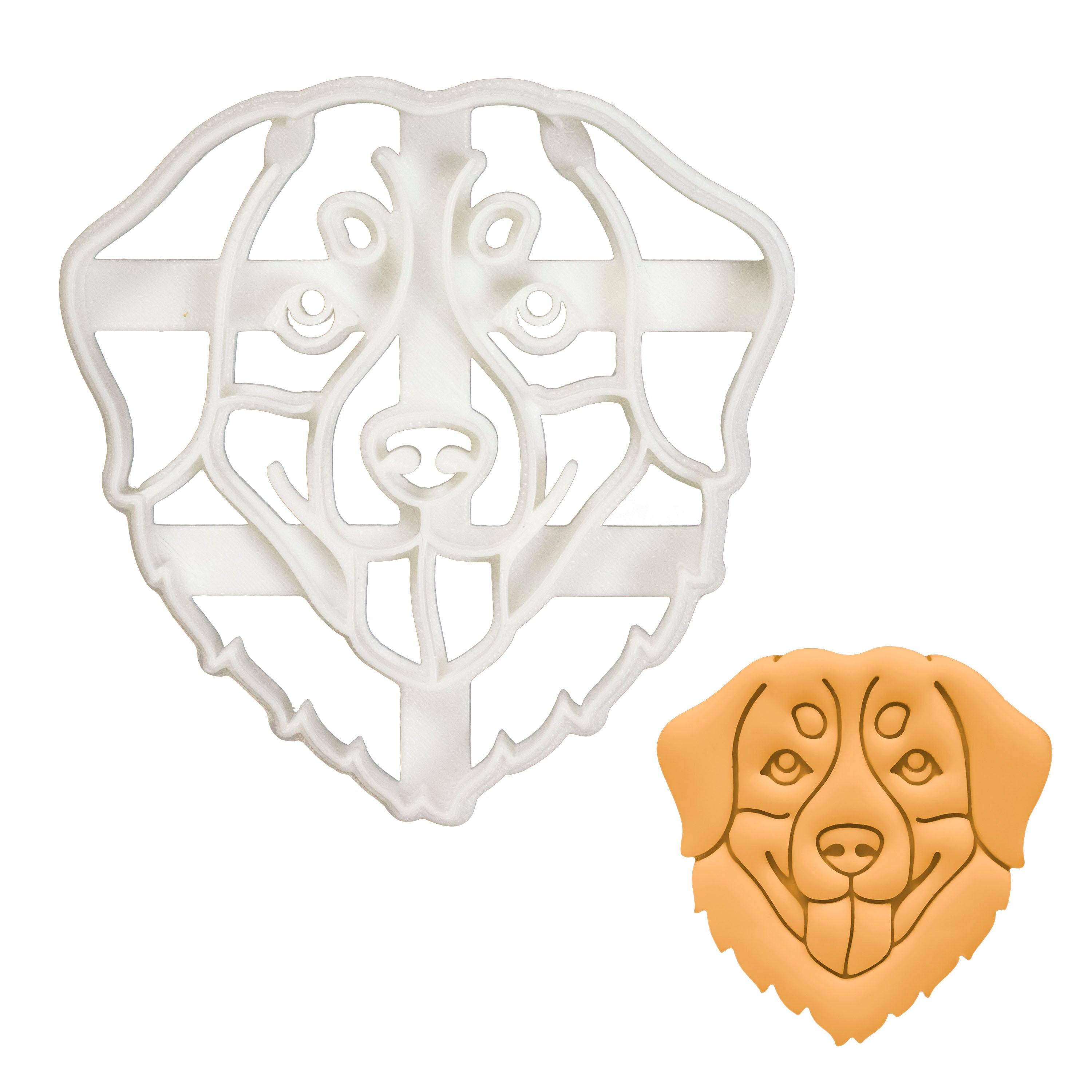 Bernese Mountain Dog Face cookie cutter