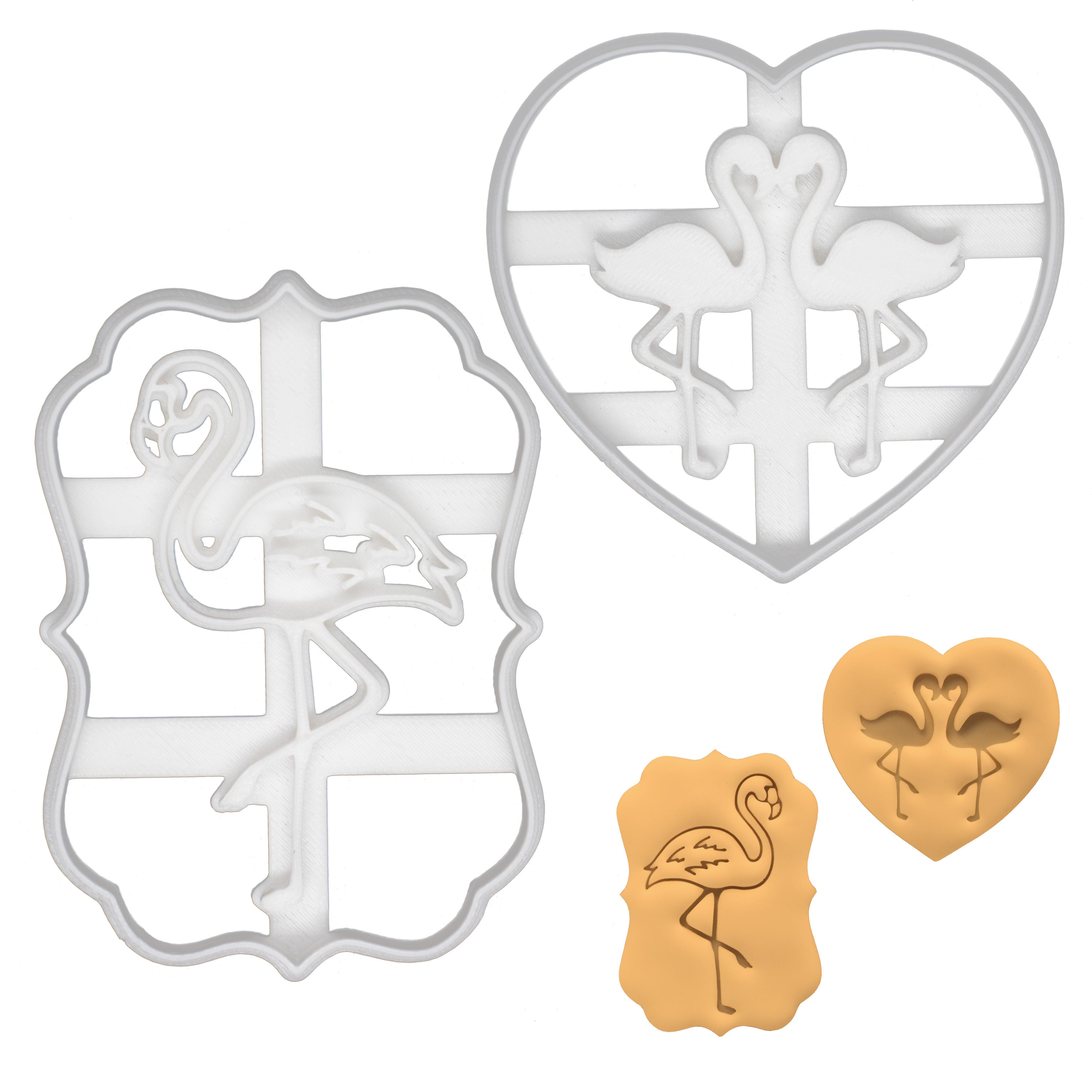set of 2 flamingo cookie cutters