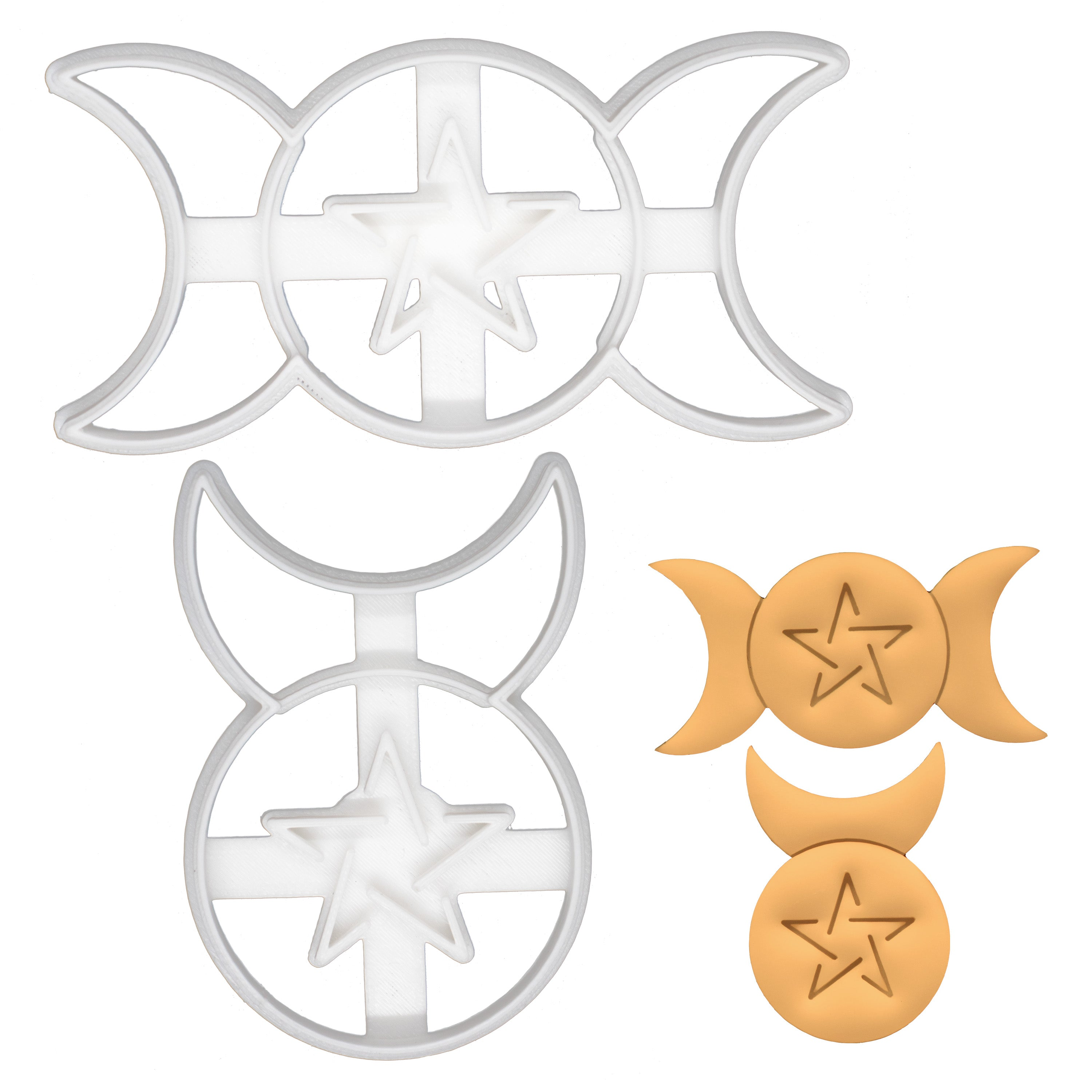 horned god and triple goddess cookie cutters