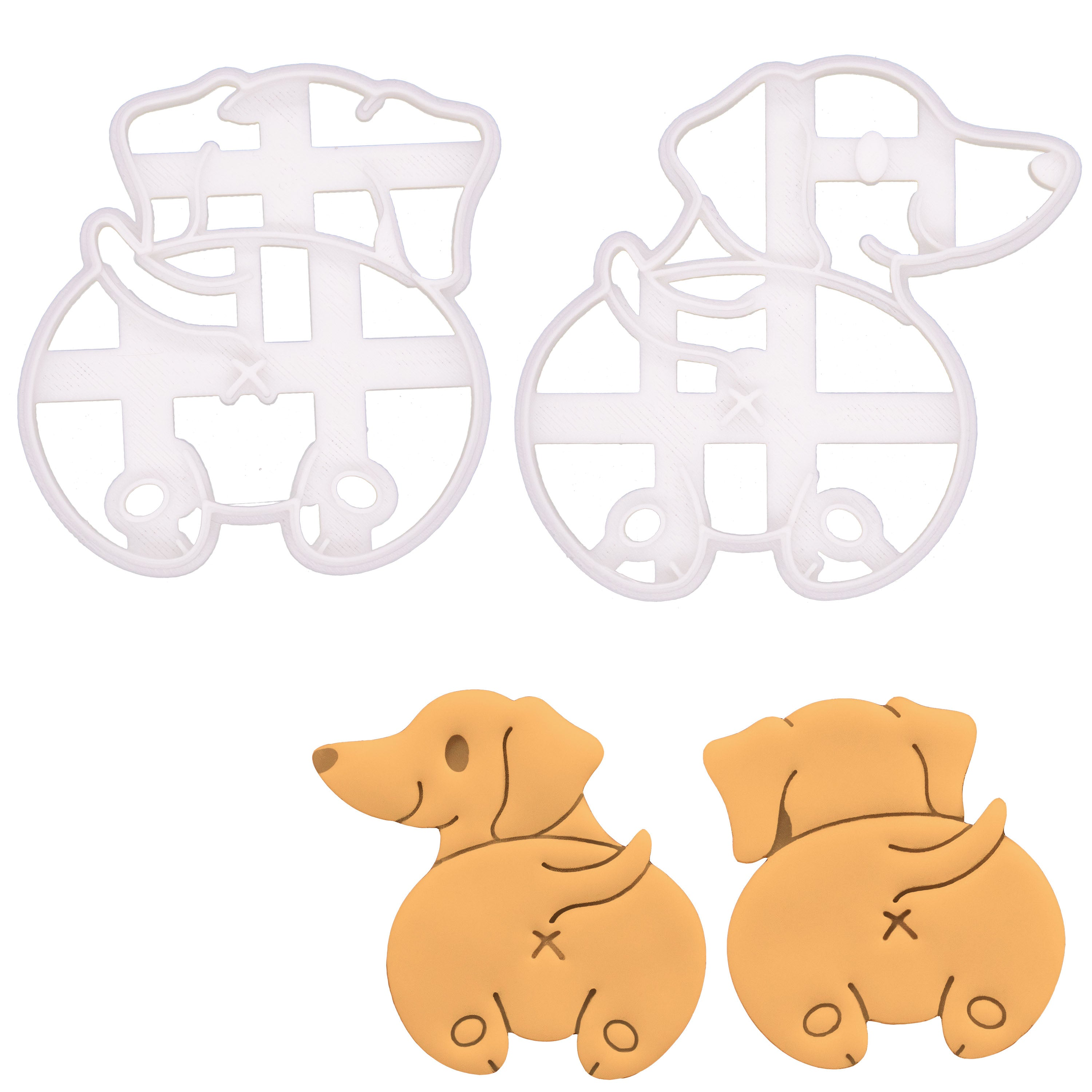 Set of 2 Dachshund Butt Cookie Cutters