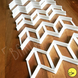 chevron cookie cutters of various sizes