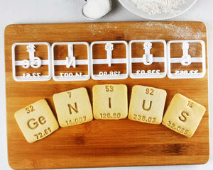Periodic Table Element Cookies (Ge, N, I, U, S)