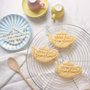 alice's adventures in wonderland - we are all mad here teapot cookies