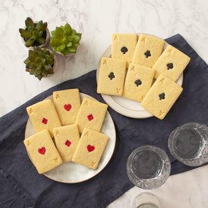 set of 4 poker card cookies