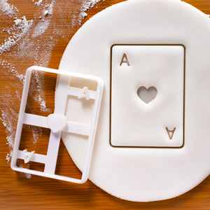 Poker Card Ace Heart Cookie Cutter