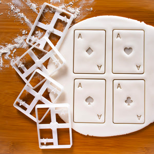 set of 4 poker card ace cookie cutters
