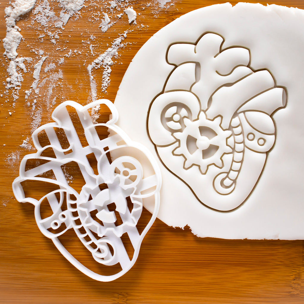 steampunk heart cookie