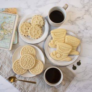 Steampunk Gear, Clock & Hat Cookies