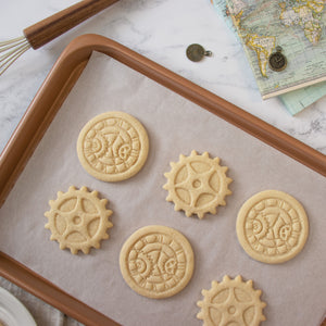 steampunk clock and gear cookies