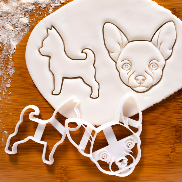 Set of 2 Chihuahua Cookie Cutters