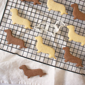 Short Haired Dachshund Outline Cookies