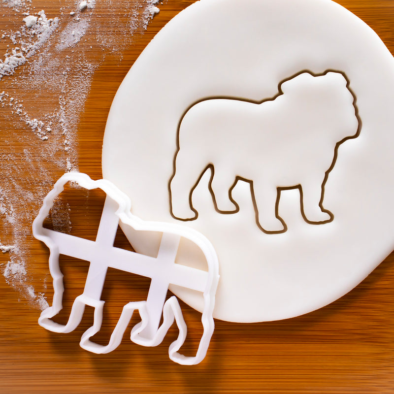english bulldog outline cookie cutter