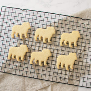 english bulldog silhouette cookies