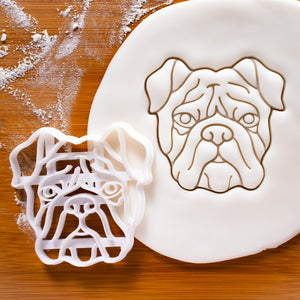 english bulldog face cookie cutter