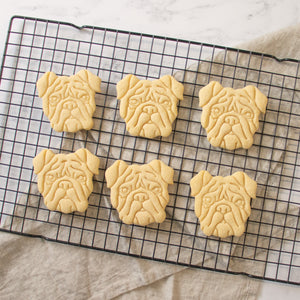 english bulldog face cookies