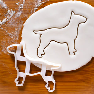 english bull terrier outline cookie cutter