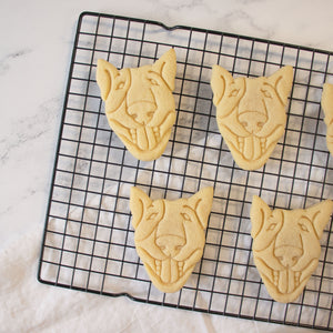 English Bull Terrier Face cookies