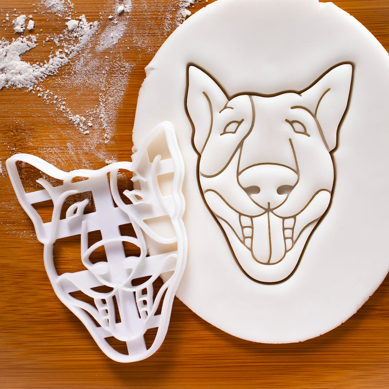 english bull terrier dog face cookie cutter