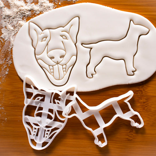 Set of 2 English Bull Terrier Cookie Cutters