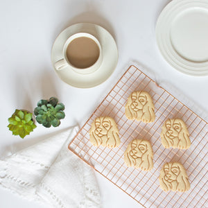 king charles portrait face cookies