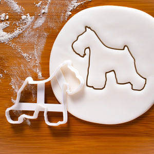 schnauzer with short tail cookie cutter