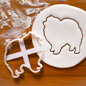 pomeranian dog silhouette cookie cutter