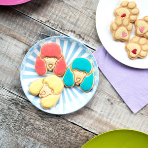 poodle face cookies