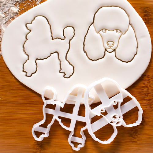Poodle Outline and Poodle's Face Cookie Cutters